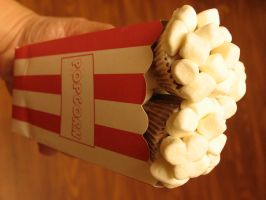 popcorn cupcakes by MotherMayIjewelry