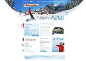 Ski-resort website layout plan by floydworx