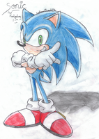 Sonic by CalhounTweetyPie
