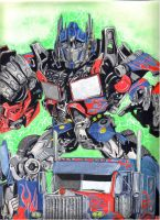 optimus prime by inkinblood