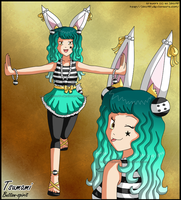 New Character- Tsumami Original Species: Amelia by izka197