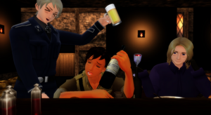Hetalia MMD - Too Drunk (Request) by YuMoriChii