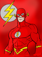 Flash Line Art by Kenmasters33 colored by Writer-Colorer