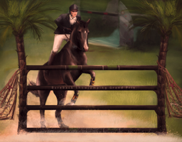 Bareback Show Jumping Grand Prix by PartilleHSC