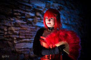Madame Red in the dark cave by Feelyah