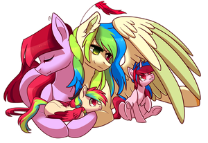 Mommy's wings are great by Raponee