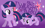 Filly Twilight Sparkle Wallpaper by adamlikesponies