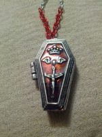 Bloody chain coffin locket 3 by TinkersTreasury
