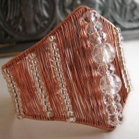 In Triangles - copper cuff by Astukee