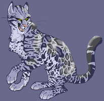Blue Ocelot by CatInYourCloset
