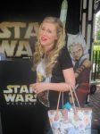 Ashley Eckstein With Bag in Clone Wars Booth by EspioArtworks