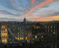 Rome in The Light of Sunset by kirilart