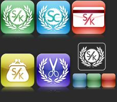 Iphone style logo by reQuiem3d