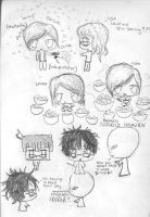 random chibi sketch page by nightwing6497