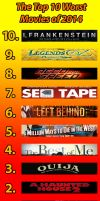 The Top 10 Worst Movies of 2014 (List) by BluMoonToons