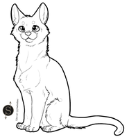 Free Line Art - Cat by Sachishiro