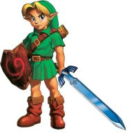 young link with master sword by skilarbabcock