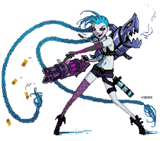 Commission: Pixel Jinx by Tvonn9