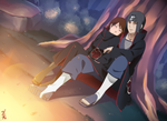 Commission - Itachi x Anika : Sleeping by dannex009