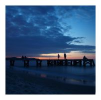 sopot. evening by janocha