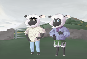 Sheeple in Their Natural Habitat by SealisGreat