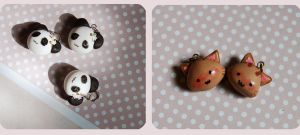 panda and cat charms by ReitaWolf