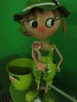Big Eyes With Green Outfit by evikho