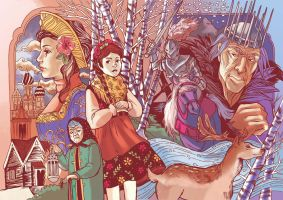 russians fairy tales by audreymolinatti