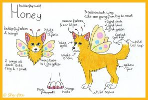 Honey ref sheet by shy-fox