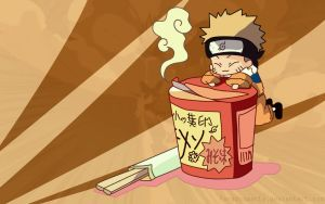 Chibi Naruto with Ramen by Byo2010