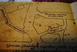 Marauders Map - Boggarts and staircases by Icemaya