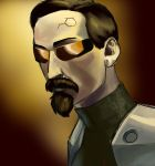 Deus ex the  Great Socialist Revolution (glasses) by Peasmman