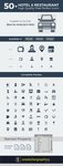 Hotel | Restaurant Pixel Perfect Icons In Ai, PSD by Designbolts