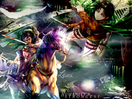 SnK Corporal Levi Wallpaper by MegaBleachy