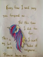 Leave me...?! by MoonCloudTheBrony