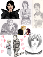Dragon Age Sketchdump by LostAcanthus