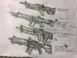Titanfall 2 assault rifle ideas by HaruAxeman