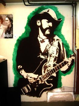Lemmy Kilmister Wall Painting by Burkpuk