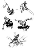 Spiderman sketches 9 by Ullcer
