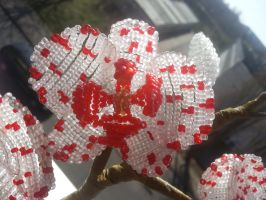 my beaded dexter orchid by Karo1987