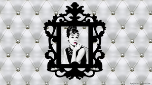 Audrey Hepburn chic and baroque wallpaper by mllebarbie03