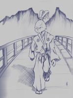 sketch: usagi yojimbo by road2damascus