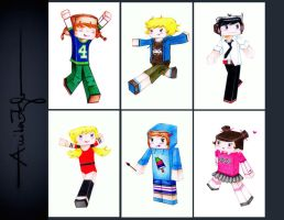 Minecraft school skins by anitafigler