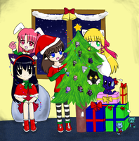 Merry Christmas collab by Luna-Mishuemoon
