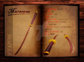 Final Fantasy 7 weapon book (Murasame) by Hellfalcon666