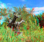 Some More Deer Statues at The Forks 3D Anaglyph by Joe-Lynn-Design