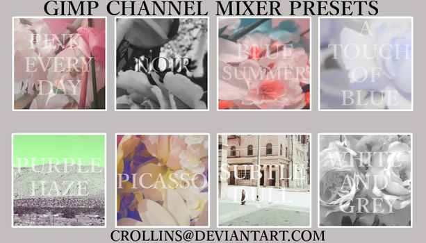 Channel Mixer Presets for GIMP by CRollins