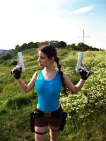 Lara Croft cosplay - flowers xD by TanyaCroft