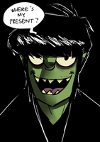 -2013- Happy Birthday, Murdoc by Vey-kun