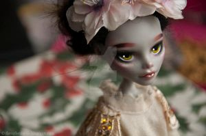Angie (Monster High Ghoulia Yelps repaint) by theugliestwife